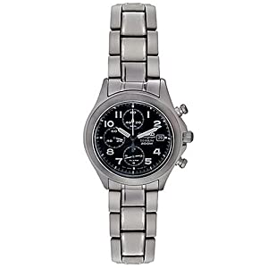 Seiko Men's SNA139 Alarm Chronograph Titanium Watch