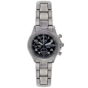 Seiko Men's SNA139 Alarm Chronograph Titanium Watch