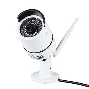 DBPOWER ワイヤレスカメラ IP66防水 1080PフルHD 200万画素 6MMレンズ COMSセンサー IR-CUT 暗視機能 P2P 動体検知 (1080P)