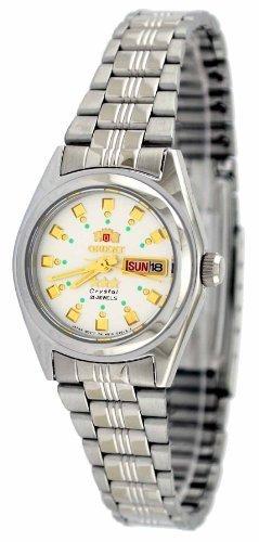 ORIENT #BNQ 1 x 003 W Tri stella da donna in argento e quadrante di orologio a carica automatica