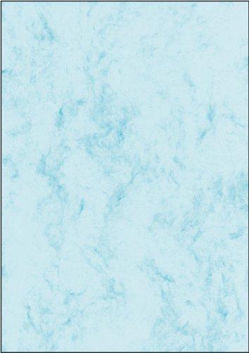 Sigel A4Carta marmorizzata, colore: grigio 50 fogli marble blue