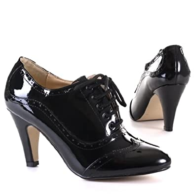 Woman's Shoes, Pumps, Synthetic high-quality leather look, 4576, black, size 7
