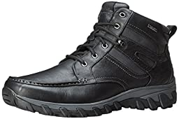 Rockport Men\'s Cold Springs Plus MC Toe Snow Boot,Black Leather,13 M US