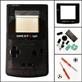 Gametown New Full Housing Shell Case Cover Pack with Screwdriver for Nintendo Game boy Color GBC Repair Part-Clear Black
