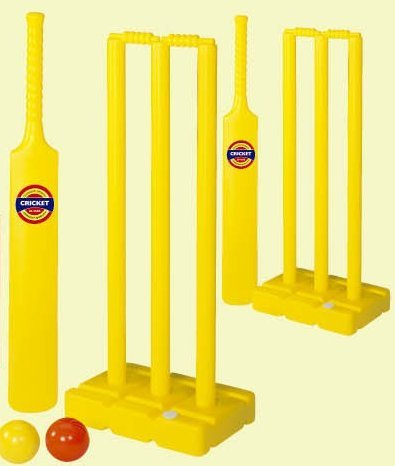 Complete childrens cricket set includes 2 x wickets bats and balls kids UK