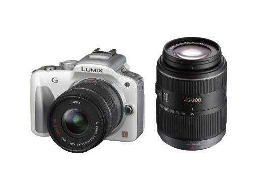 Panasonic デジタル一眼カメラ LUMIX G3 ダブルズームキット シェルホワイト DMC-G3W-W