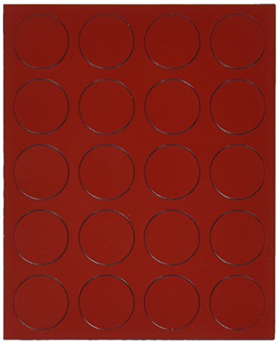 Quartet Magnetic Circles, 0.75-Inch Diameter, Red, 20 per Set (MCR)