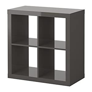 ikea expedit regal in hochglanz grau k che haushalt. Black Bedroom Furniture Sets. Home Design Ideas
