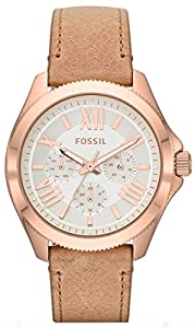 Silver Cecile Multifunction Leather Watch by Fossil