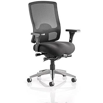 dinamica OP000113Regent direzionale tessuto mesh sedia con braccioli, colore nero