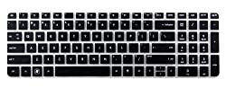 Yashi Laptop Keyboard Protector Cover Black Silicone rubber for HP Pavilion DV6 with numeric