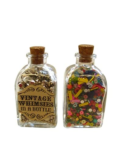 Wendy Addison Set of Two Vintage-Inspired Beads & Baubles Whimsy Bottles