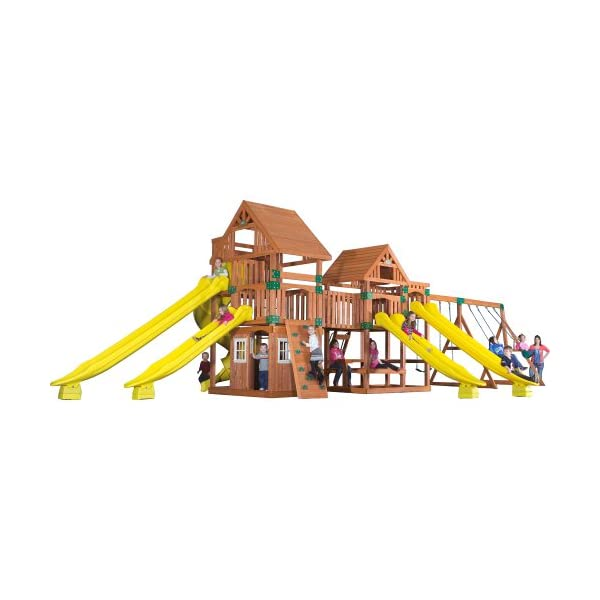 Backyard Discovery Safari All Cedar Wood Playset Swing Set Epic