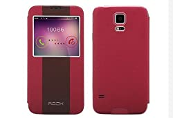 Rock Side Flip Case For Samsung Galaxy S5 Red