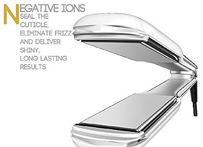 "Flat Iron, PERFECTWO Professional Ceramic Tourmaline Ionic Hair Straightener Flat Iron 1.5"" Second Generation"