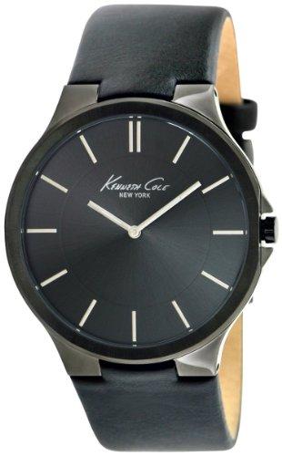 Kenneth Cole New York Men's KC1885 Slim Black Dial Slim Black Strap Watch