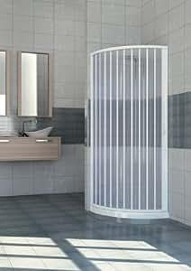 Cabine de Douche extensible en PVC semi-circulaire - 80 x 80 cm