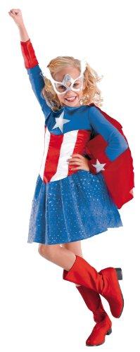 Captain America Girls Costume (Captain America Toddler Girl Costume)