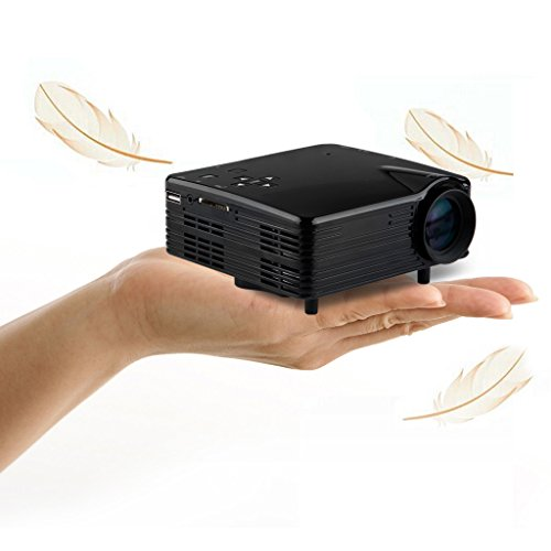 Excelvan Portable Mini Led Projector Hd Home Cinema Theater Pc Laptop Hdmi Av Vga Sd Usb 480*320 500 Lumens 400:1 Contrast Rate