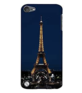 99Sublimation Effie Tower At Night 3D Hard Polycarbonate Back Case Cover for Apple iPod Touch 5