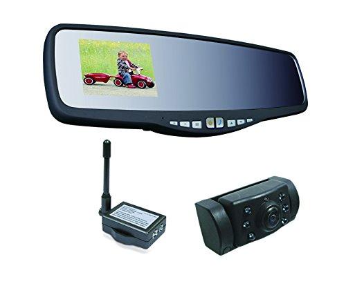 Pro-User 20118 APB220 Funk-Rückfahrkamerasystem integriert in Rückspiegel mit Bluetooth Freisprechanlage