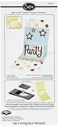 Sizzix Pop 'n Cuts Magnetic Insert Die - Phrase, Party 3-D (Pop-Up) by Karen Burniston (Pop N Cuts Inserts compare prices)