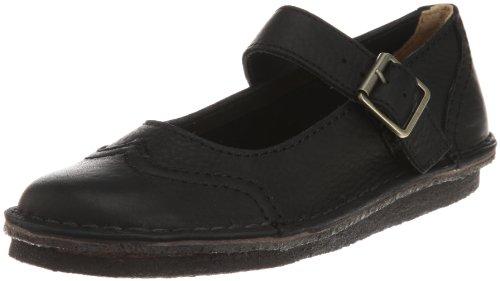 Clarks Originals Womens Peppi Naboo Shoes Black Leather 5.5 UK