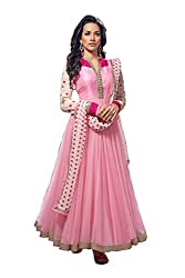 Kamakshi Womens Net Self Print Anarkali Salwar Suit (Juni_L)