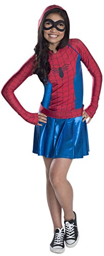 Rubies Marvel Classic Child's Spider-Girl Hoodie Costume Dress, X-Large