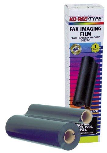 Ko-Rec-Type 4878-0 Fax Imaging Film Ribbon for Sharp UX5CR, 1 Roll (Black)