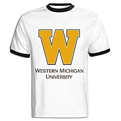 SHOWQEE Gentleman Central Michigan University Logo Contrast Color Short Sleeve Shirt