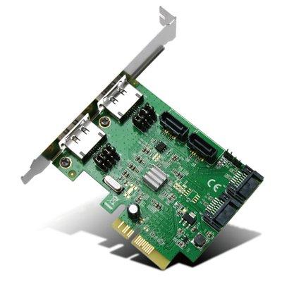 �����ꥢ TTH QUATTRO PCI Express x4��³ SATA 4�ݡ��� eSATA 2�ݡ��� ��¾���� RAID��ǽ��� SD-PE4SA3ES4L