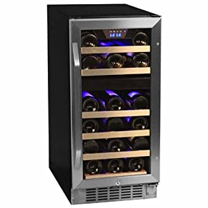 EdgeStar Dual Zone Stainless Steel Built-In Wine Cooler