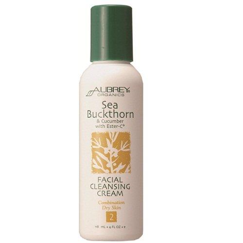 Aubrey Organics - Sea Buckthorn & Cucum W/Ester-C Facl Cleansing Cre, 4 Fl Oz Cream