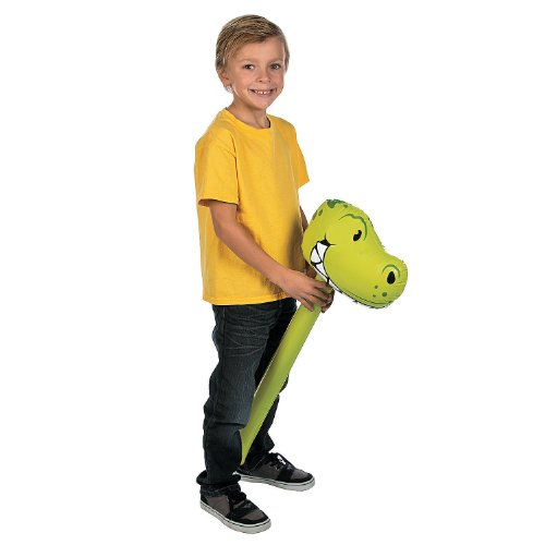 "Inflatable 32"" Stick Dinosaur - Party Supplies"