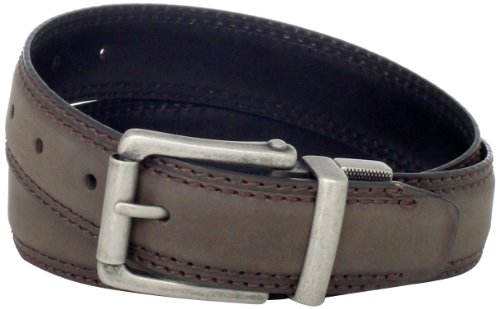 Dickies Men's Limestone Reversible Belt, Brown/Black, Small