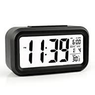 Alarm Clock, HeQiao LED Clock Slim Di…