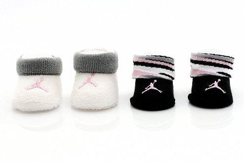 Nike Jordan Jumpman 23 Baby Booties 0-6 months Black/white/pink