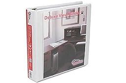 Office Impressions Round Ring Economy Vinyl View Binder, 1-1/2 Inch Capacity, White (82234)