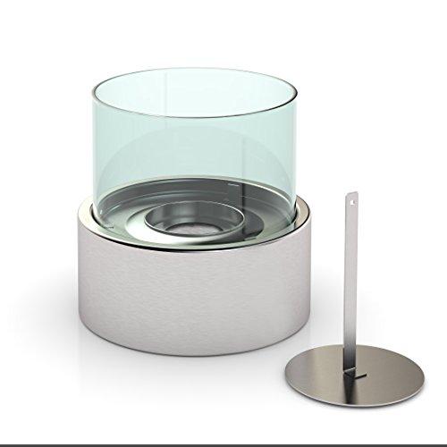 Design Tisch-Kamin Bio-Ethanol, silber, DF-6507