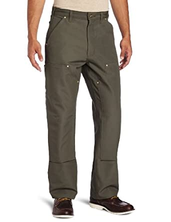 Carhartt Men's Double Front Work Dungaree Pant B01,  Moss,  28 x 30