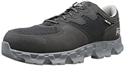 Timberland PRO Men\'s Powertrain Alloy Toe ESD Industrial Shoe,Black/Grey Microfiber And Textile,11.5 M US
