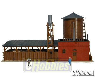 Model Power HO Scale Steam Locomotive Supply Building - Built Up