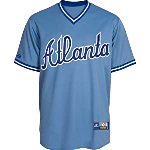Majestic Athletic Atlanta Braves Replica Cooperstown Blank Alternate Jersey by Majestic Athletic