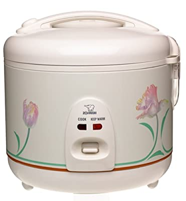 Zojirushi NS-RNC10 Automatic 5-1/2-Cup (Uncooked) Rice Cooker and Warmer by Zojirushi