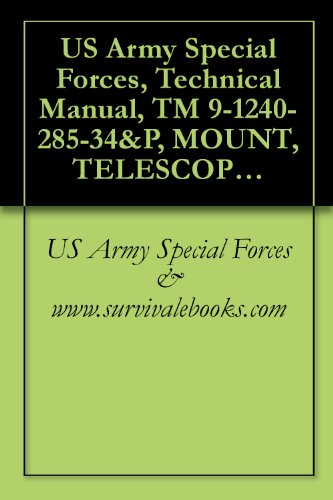 Us Army Special Forces, Technical Manual, Tm 9-1240-285-34&P, Mount, Telescope, M114, (1240-00-676-2176), 1987