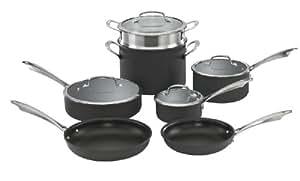 Cuisinart DSA-11 Dishwasher Safe Hard-Anodized 11-Piece Cookware