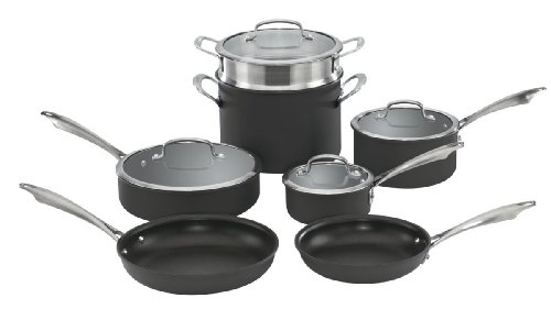 Cuisinart DSA-11 Dishwasher Safe Hard-Anodized 11-Piece Cookware Set