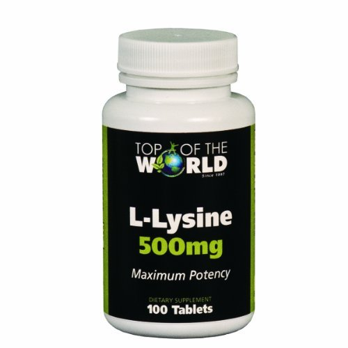 Top Of The World Naturals L- Lysine, 500Mg, 100-Count (Pack Of 2)