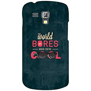 Samsung Galaxy S Duos 7582 Phone Cover - World Bores Matte Finish Phone Cover